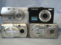' 4 x Cameras ' Samsung x 2 + Olympus x 2 Digital Camera  -From Shop Closure-  £24.99